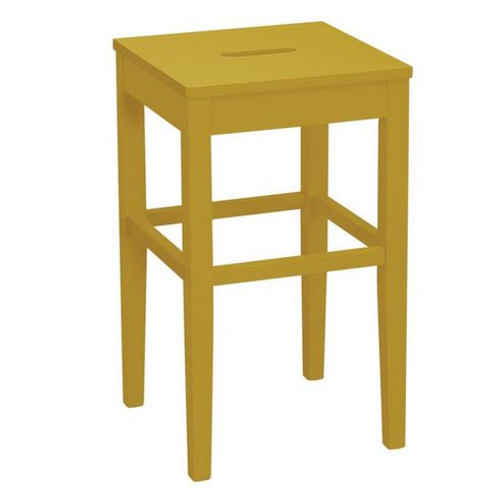 DAMA  COUNTER STOOL - SEAT: 600(H)  - OLIVE YELLOW