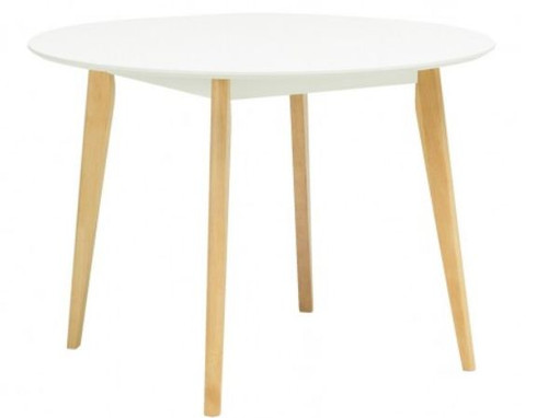 ARTHUR ROUND DINING TABLE - 1050(DIA) - WHITE