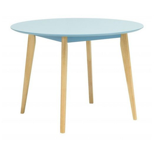ARTHUR ROUND DINING TABLE - 1050(DIA) - DUST BLUE