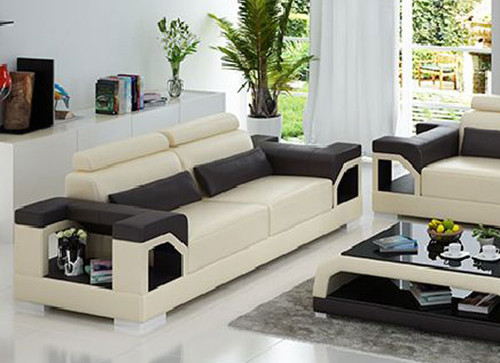 TREASURE LEATHERETTE 2  SEATER LOUNGE (MODEL- G8010D) - CHOICE OF LEATHER & ASSORTED COLOURS AVAILABLE