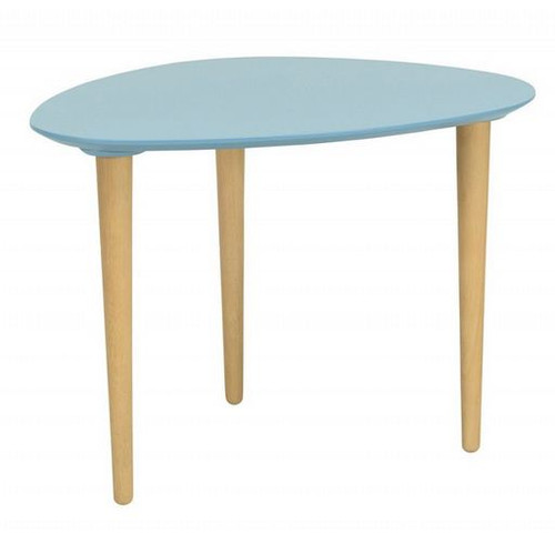 COREY MEDIUM OCCASIONAL  TABLE -  DUST BLUE