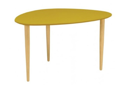 COREY HIGH OCCASIONAL  TABLE - OLIVE YELLOW