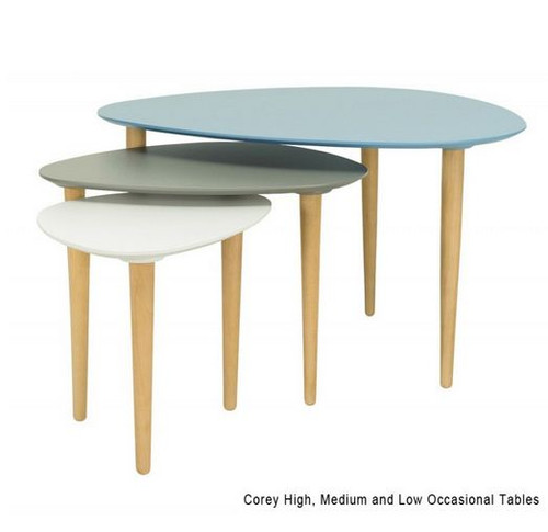 COREY HIGH OCCASIONAL  TABLE - DUST BLUE