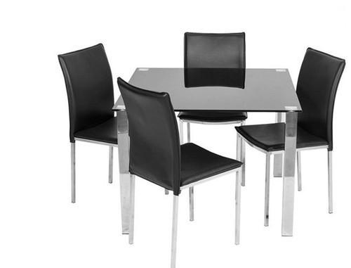BARI 5  PIECE DINING SETTING WITH 1000(L) x 1000(W) SQUARE TABLE