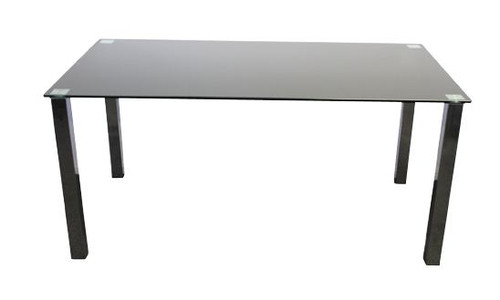 BARI 1000(L) X 1000(W)  SQUARE   GLASS  DINING  TABLE