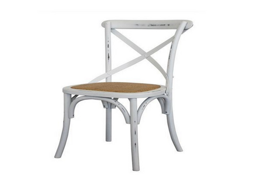 ORLEANS WICKER DINING CHAIR - WHITE