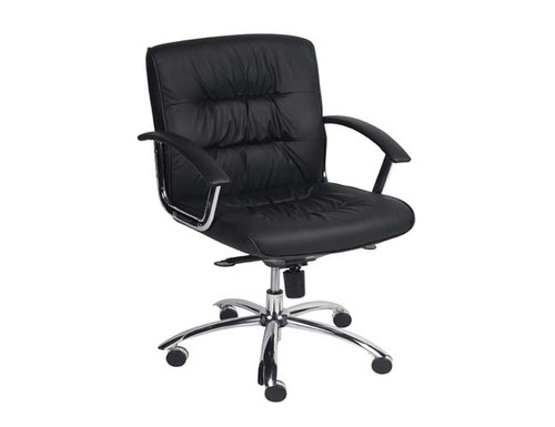 VICEROY  MANAGERIAL OFFICE CHAIR WITH CHROME FRAME  - BLACK