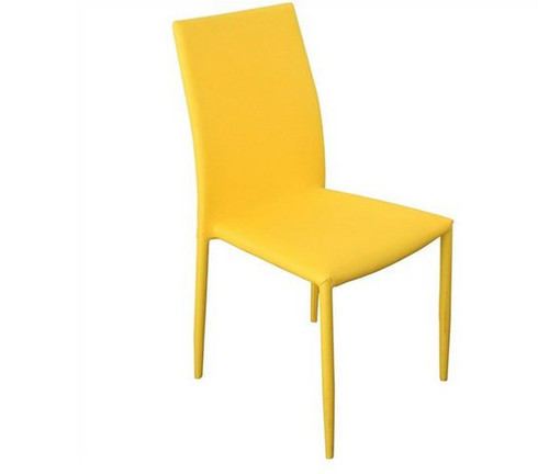 SVEN FABRIC   UPHOLSTERED DINING CHAIR  - YELLOW