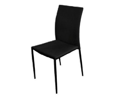 SVEN FABRIC   UPHOLSTERED DINING CHAIR  - BLACK