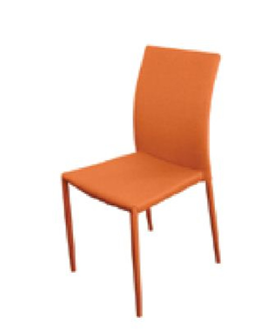 SVEN FABRIC   UPHOLSTERED DINING CHAIR  - ORANGE