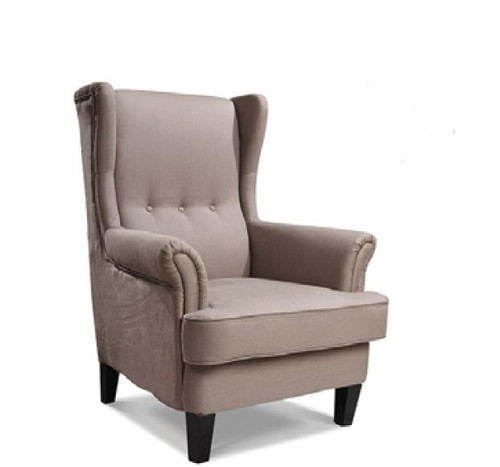 AUSTIN UPHOLSTERED WINGBACK CHAIR - SIENNA LATTE