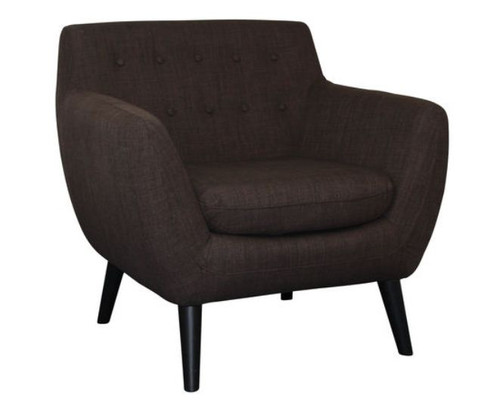 PATCH UPHOLSTERED ARM  CHAIR  - BROWN