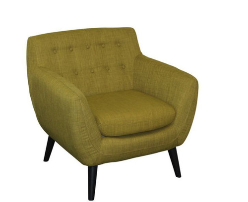 PATCH UPHOLSTERED ARM CHAIR  - GREEN