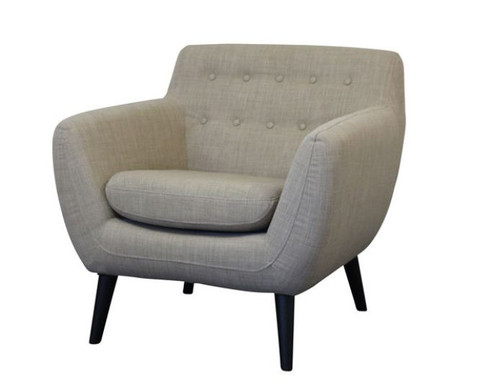 PATCH UPHOLSTERED ARM  CHAIR  - PUMICE