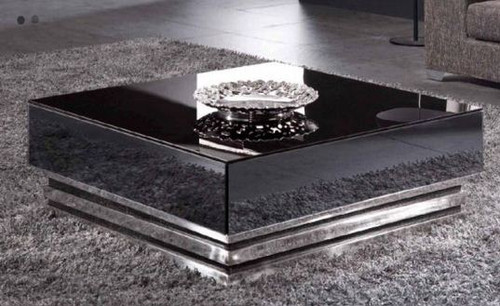 CITY COFFEE  TABLE  (WD-100)  -  1000(W) X 1000(D)-  WHITE OR BLACK GLOSS