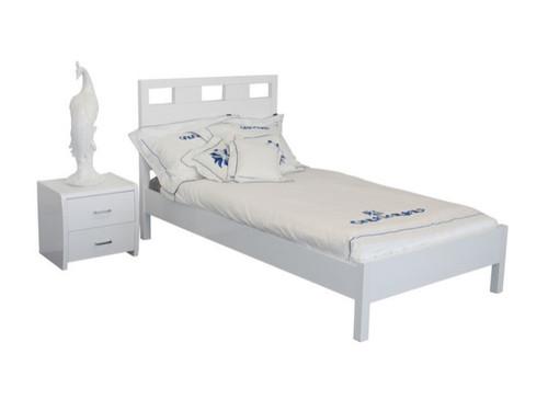 SINGLE CRONULLA BED - HIGH GLOSS WHITE OR BLACK