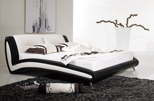 KING BRYMO  LEATHERETTE  BED (B002) - ASSORTED COLORS AVAILABLE