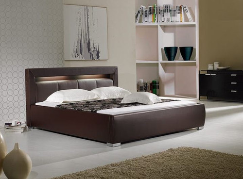 QUEEN MORRISON LEATHERETTE BED (B003) - ASSORTED COLORS
