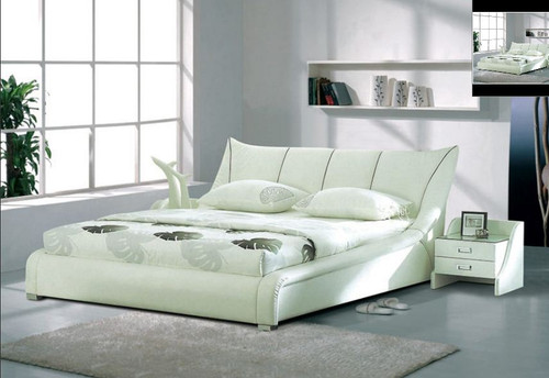KING  MARIO  LEATHERETTE  BED (B008) - ASSORTED COLORS AVAILABLE