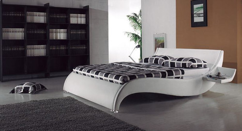 KING JEROME  LEATHERETTE  BED (B014) - ASSORTED COLORS AVAILABLE