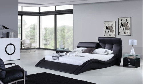 KING ZIMRAM LEATHERETTE  BED (B032) - ASSORTED COLORS AVAILABLE (SEE COLOR BOARD)
