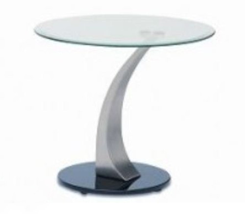 BEKKI   LAMP TABLE (WD-530)  -  560 (DIAM) - CLEAR / GLOSSY BLACK
