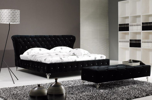 KING GRAYSON FABRIC - SUEDE  BED (B043) - ASSORTED COLORS