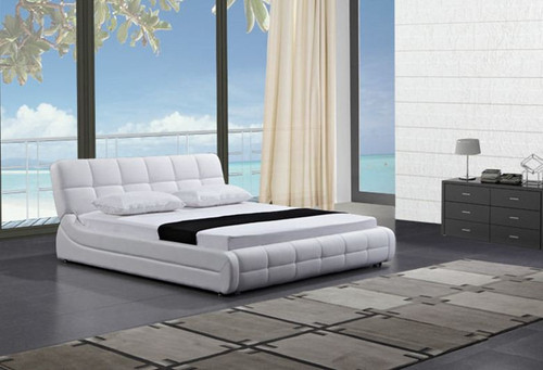KING KACIA LEATHERETTE BED (B086) - ASSORTED COLORS (SEE COLOR BOARD)