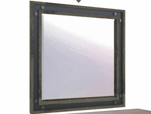 WAREHOUSE SQUARE MIRROR  (VWR-15)  - KHAKI