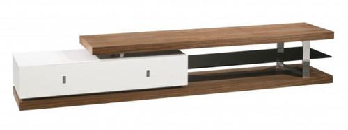 COLLINS TV UNIT (WD-209) - 430(H) x 2400(W) - HIGH GLOSS WHITE / WALNUT