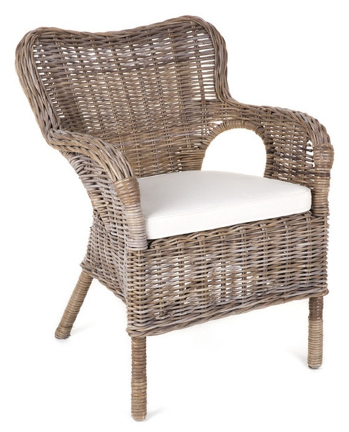 DOUGLAS RATTAN (DET803) ARM CHAIR - KUBU GREY