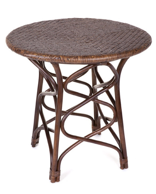 CAFE TABLE (DET804/T) -  800(DIA) - BROWN