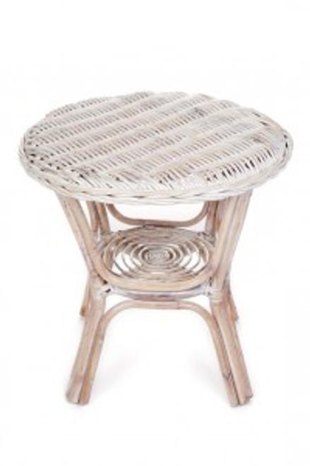 ROUND   (DET760)  SIDE TABLE  -  WHITE WASH