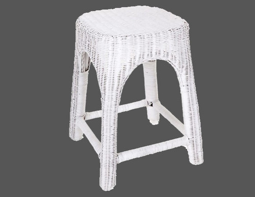RATTAN (DET809) KITCHEN   STOOL - SEAT: 500(H) -  WHITE