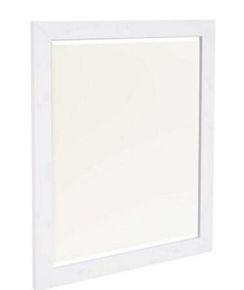 HABIBA MIRROR (2-18-9-20-20-1-14-25) - WHITE / DARK WENGE
