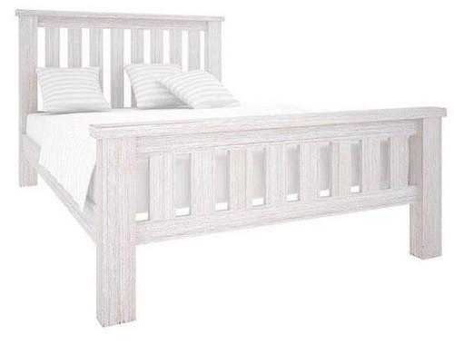 KING DENALI BED (VAL-031) (MODEL 1-12-1-19-11-1) - BRUSHED  WHITE