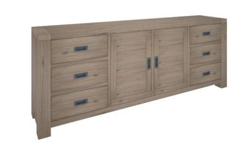 OYSTER BAY (VOB-005) 2 DOOR & 6 DRAWERS BUFFET - 880(H) X 2170(W) )  - ASH