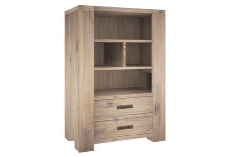 OYSTER BAY  BOOKSHELF WITH 2 DRWAERS (VOB-012) - 1800(H) x 900(W) - ASH