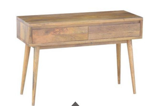 RETRO CONSOLE  TABLE WITH 2 DRAWERS (WORE-005) - 750(H) X 1100(W) X 400(D) - LIGHT OAK