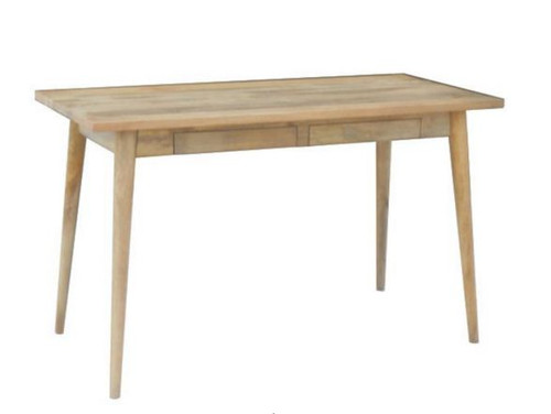 RETRO   DESK WITH 2 DRAWERS (WORE-030) - 1300(W) X 600(D) - LIGHT OAK