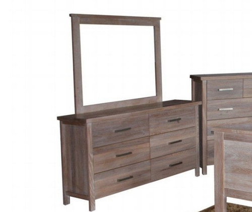 GAP 6 DRAWERS  DRESSING TABLE & MIRROR - 820(H) X 1350(W) - WHITEWASH