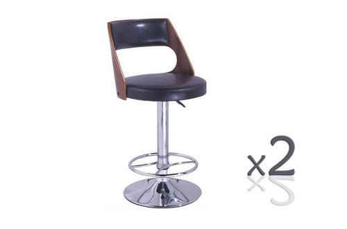 WATERLOO BENTWOOD GASLIFT (SET OF 2) BAR STOOLS - SEAT: 900 -1120(H) - BROWN