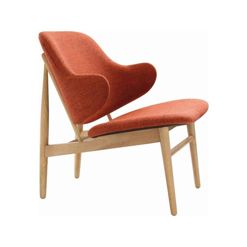 VERONIC LOUNGE ARM CHAIR - RUSSET /  NATURAL