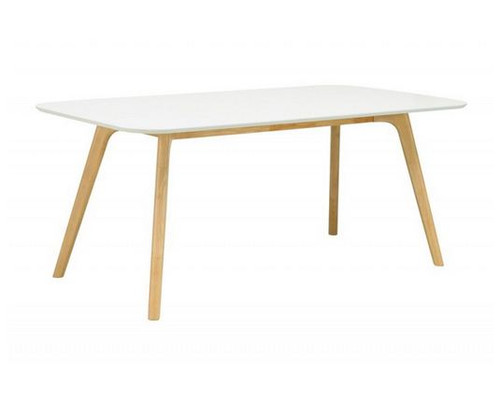 RODEN DINING TABLE (RODEN18_DT102-130)  - NATURAL  /  WHITE