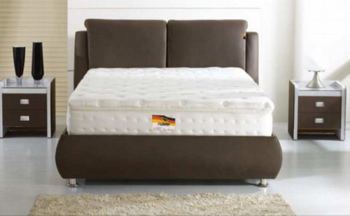DOUBLE  APRONZI  LEATHERETTE  BED  (870) - ASSORTED COLOURS