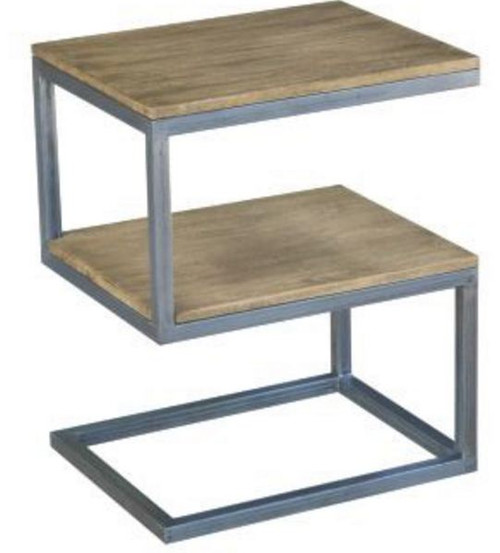 "BYRON (WOBN-012) ""S'' SHAPE SIDE TABLE - DISTRESSED NATURAL"