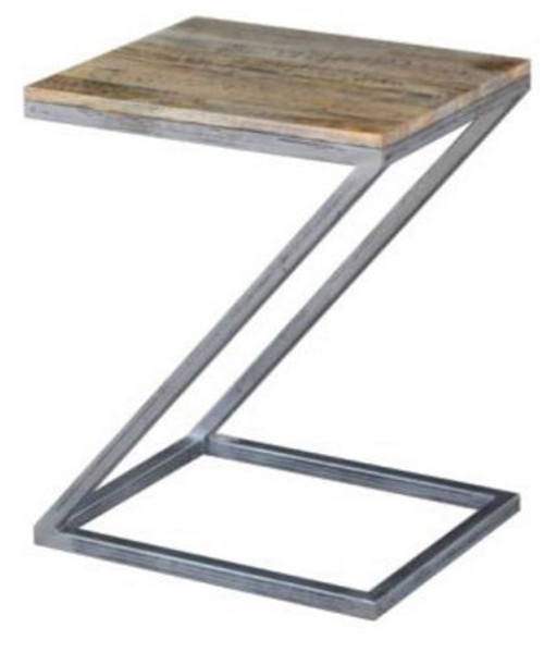 BYRON Z SHAPE SIDE TABLE - DISTRESSED  NATURAL