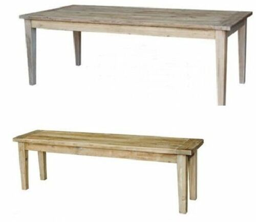 STAMFORD  3 PIECE DINING SETTING WITH 2 BENCHES  - TABLE -1800(L) x 900(W) - NATURAL