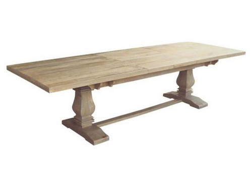 UTAH (WOUT-007) EXTENSION DINING TABLE  ONLY 2580/3480(W) X 1200(D)  - HONEY WASH