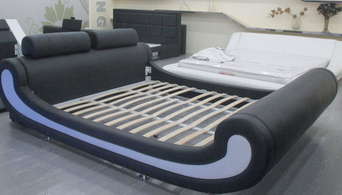 KING  ASTRINO  LEATHERETTE BED (CD013) - ASSORTED COLORS